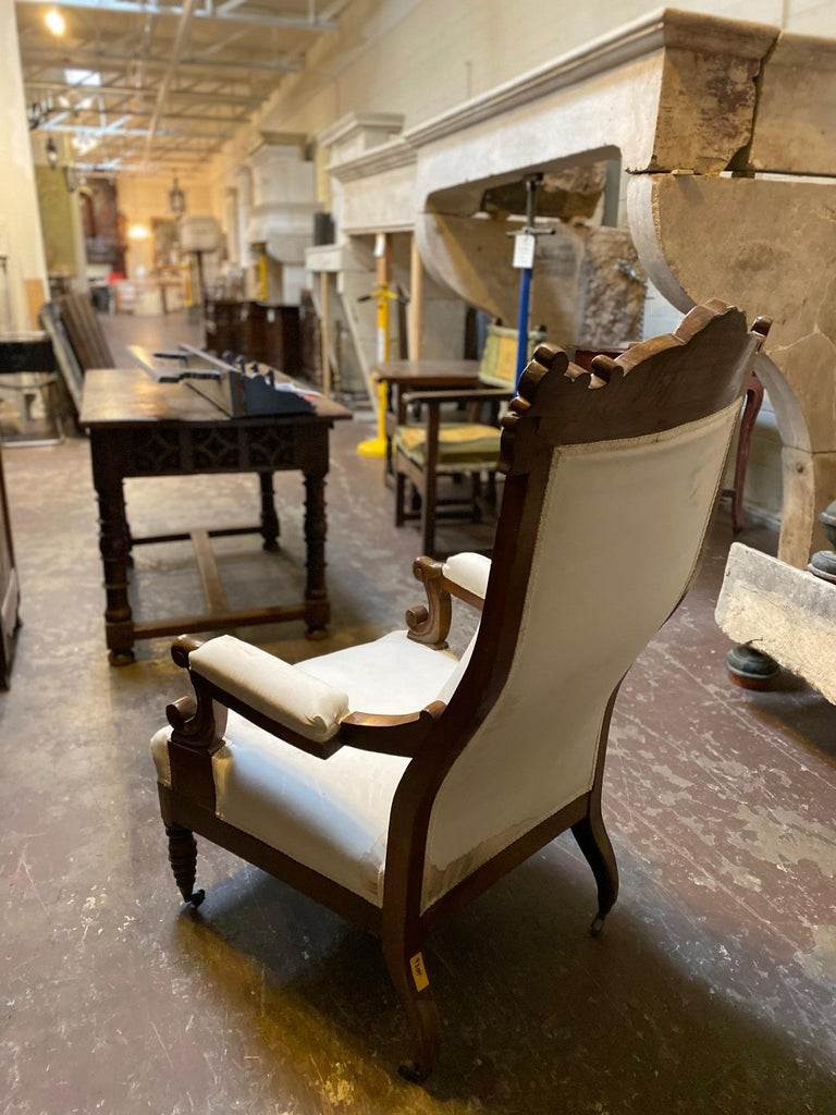 Walnut 20th Century French Armchair For Sale