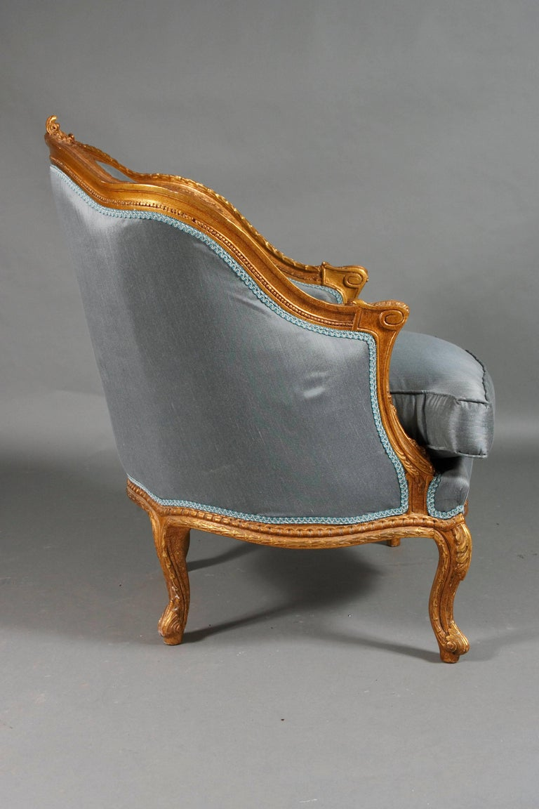20th Century French Armchair Louis Quinze Baroque Style For Sale 3