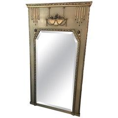 20th century French Art Deco Golden Wood Mirror, 1930s