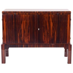 20th Century French Art Deco Macassar Cabinet/Buffet, High Gloss Lacquer, 1920s