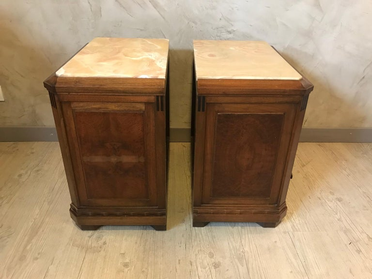 20th Century French Art Deco Pair of Bedside Table, 1930s For Sale 4