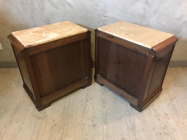 20th Century French Art Deco Pair of Bedside Table, 1930s For Sale 5