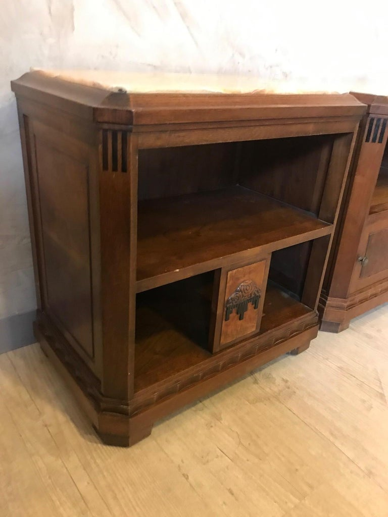 20th Century French Art Deco Pair of Bedside Table, 1930s In Good Condition For Sale In LEGNY, FR