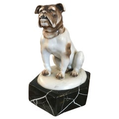20th century French Art Deco Porcelain Bulldog, 1930s
