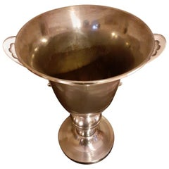 20th Century French Art Deco Silver Plate Champagne Bucket, 1930s