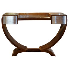 20th Century French Art Deco Walnut Coiffeuse Vanity by Émile-Jacques Ruhlmann