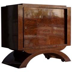 20th Century French Art Deco Walnut Dry Bar