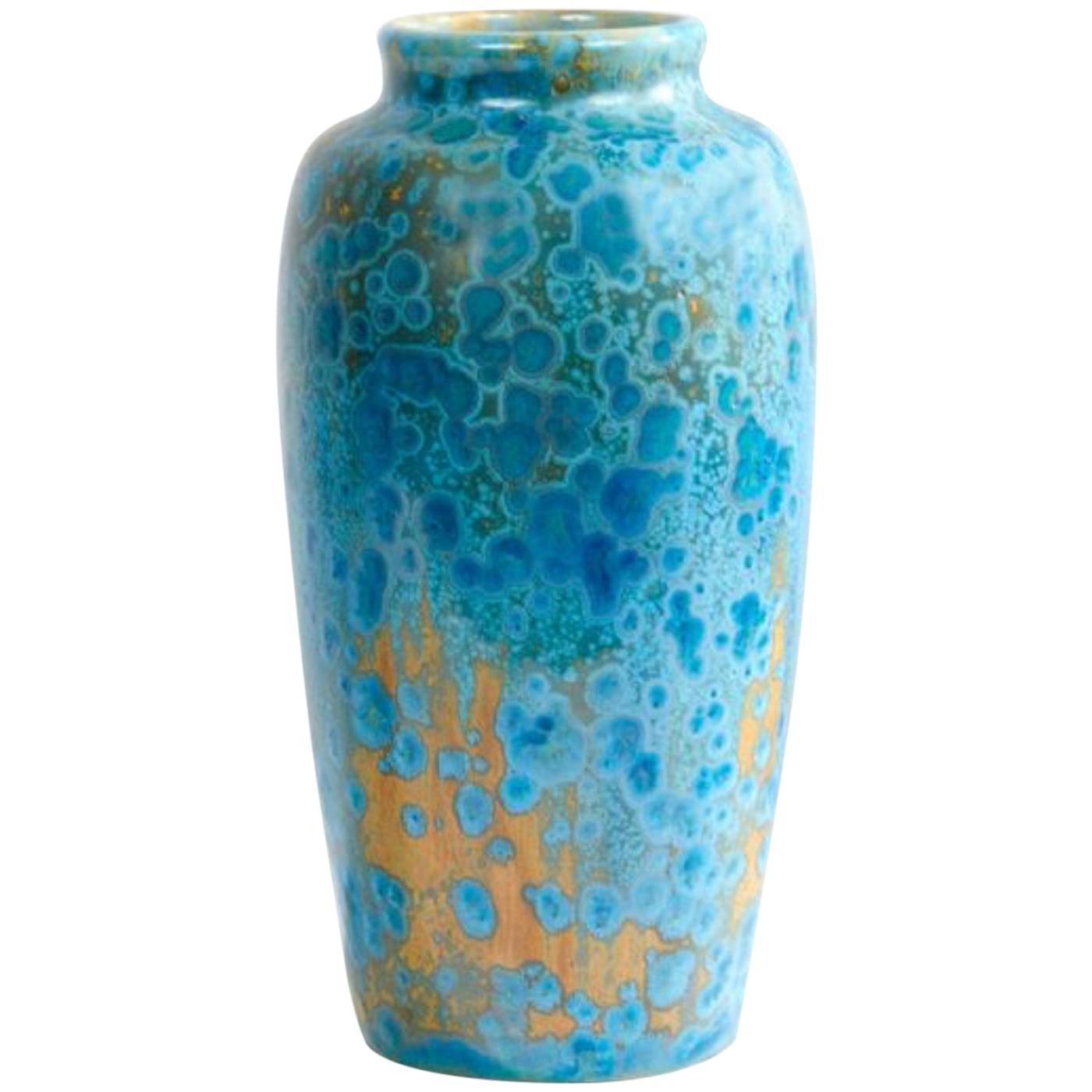 20th Century French Art Nouveau Pierrefonds Pottery Vase