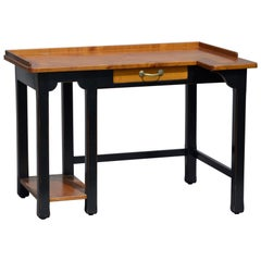 20th Century French Asymmetrical Wooden Writing Table or Desk