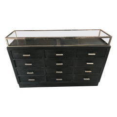 20th Century French Black Painted Chest of Drawer, 1900s