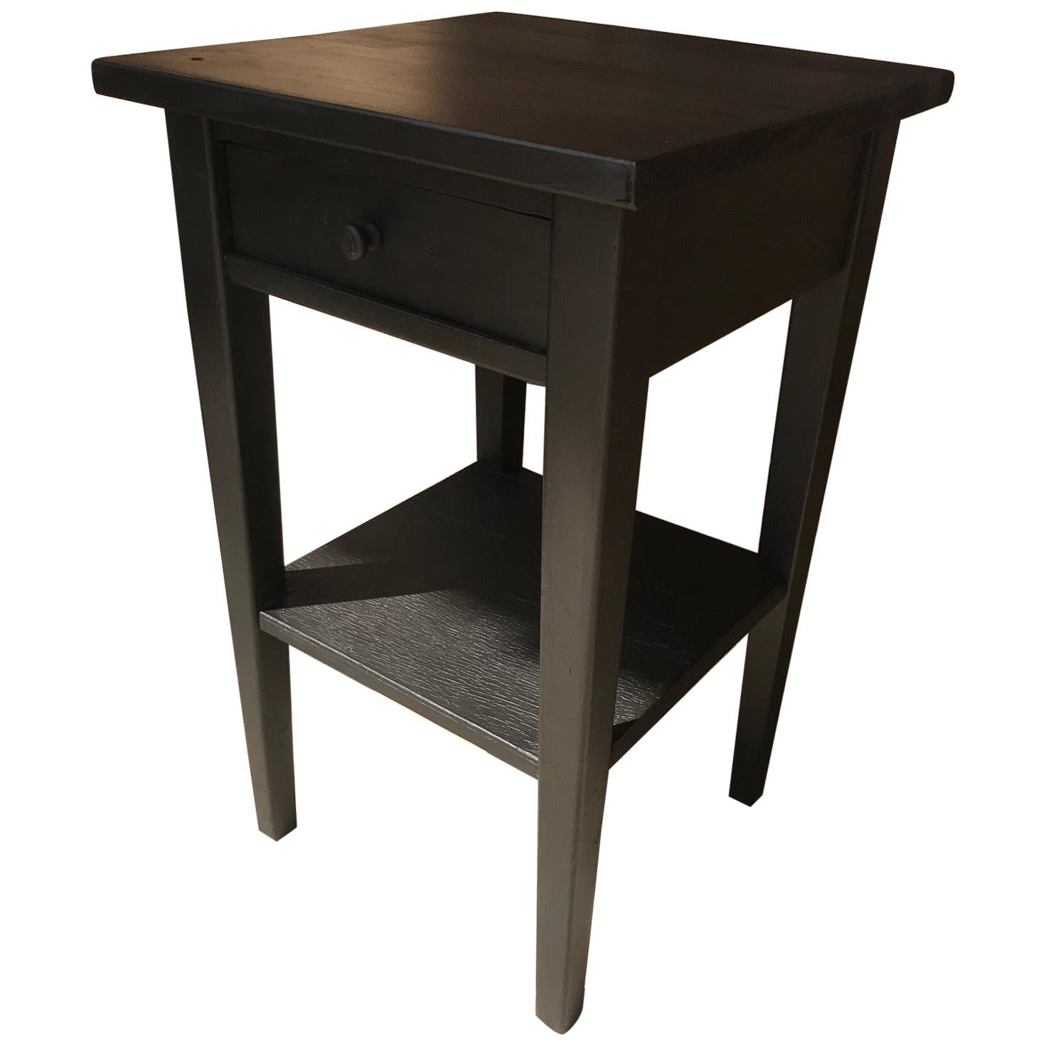 20th Century French Black Painted Fir Side Table, 1920s