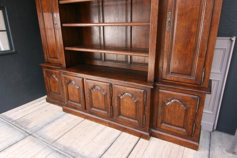 20th Century French Bookcase Cabinet Made of Oak For Sale 7