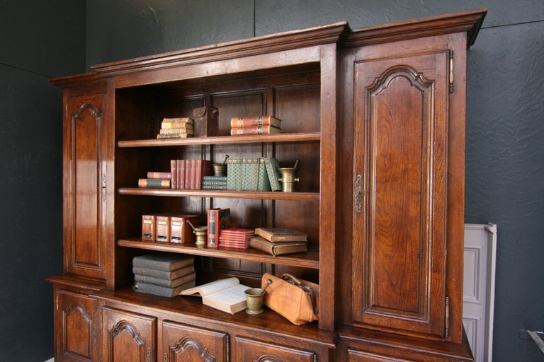 20th Century French Bookcase Cabinet Made of Oak For Sale 2