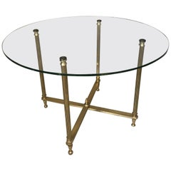 20th Century French Brass and Glass Coffee Table, 1950s