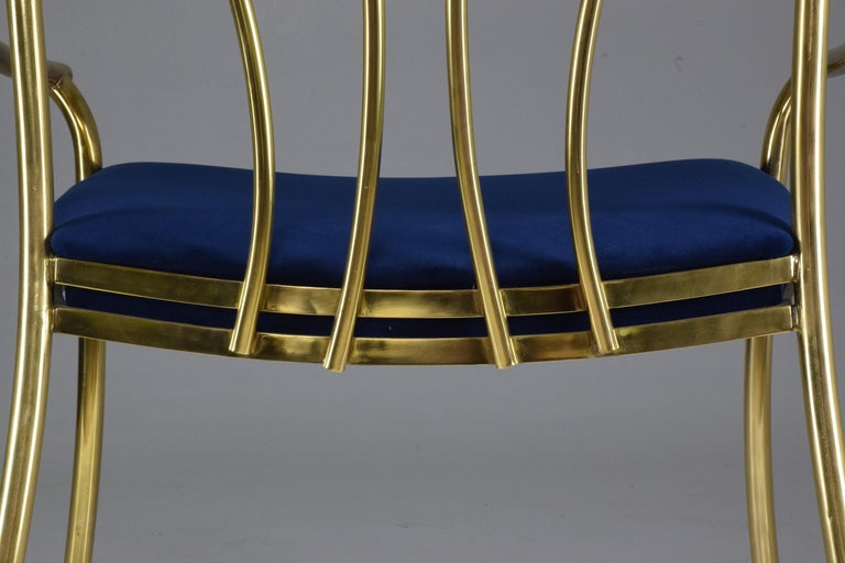 20th Century French Vintage Brass Armchair, 1970-1980 For Sale 6