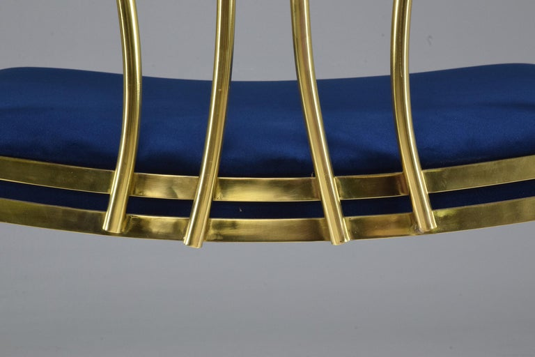 20th Century French Vintage Brass Armchair, 1970-1980 For Sale 7