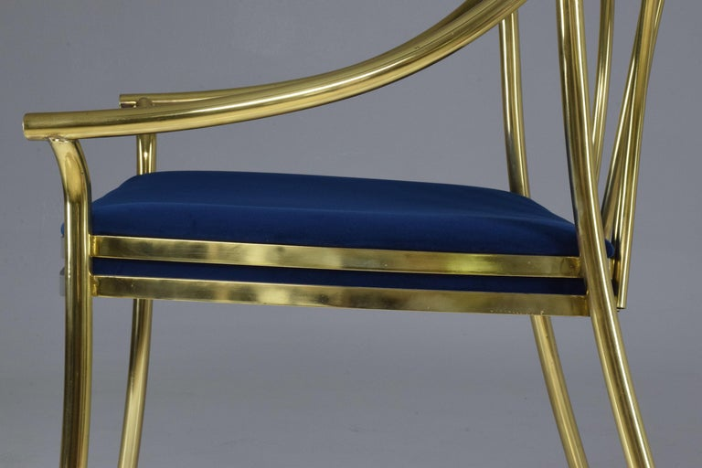 20th Century French Vintage Brass Armchair, 1970-1980 For Sale 8
