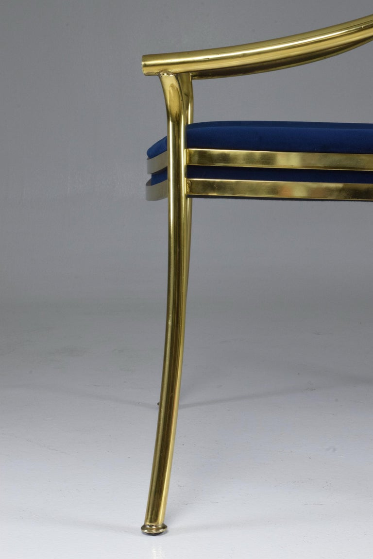 20th Century French Vintage Brass Armchair, 1970-1980 For Sale 9