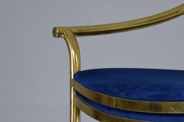 20th Century French Vintage Brass Armchair, 1970-1980 For Sale 10
