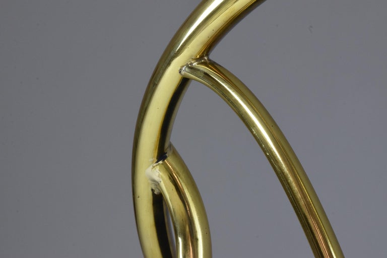 20th Century French Vintage Brass Armchair, 1970-1980 For Sale 14