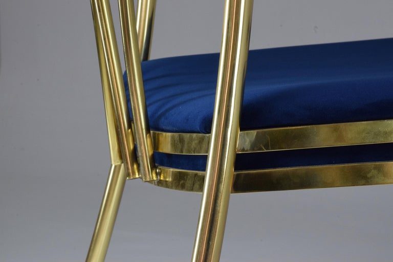20th Century French Vintage Brass Armchair, 1970-1980 For Sale 15