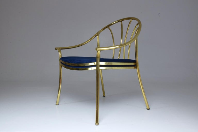 Hollywood Regency 20th Century French Vintage Brass Armchair, 1970-1980 For Sale