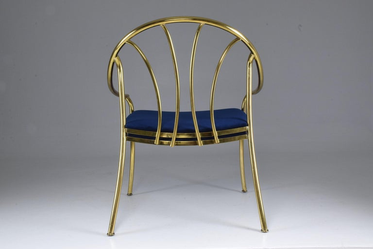 20th Century French Vintage Brass Armchair, 1970-1980 For Sale 1