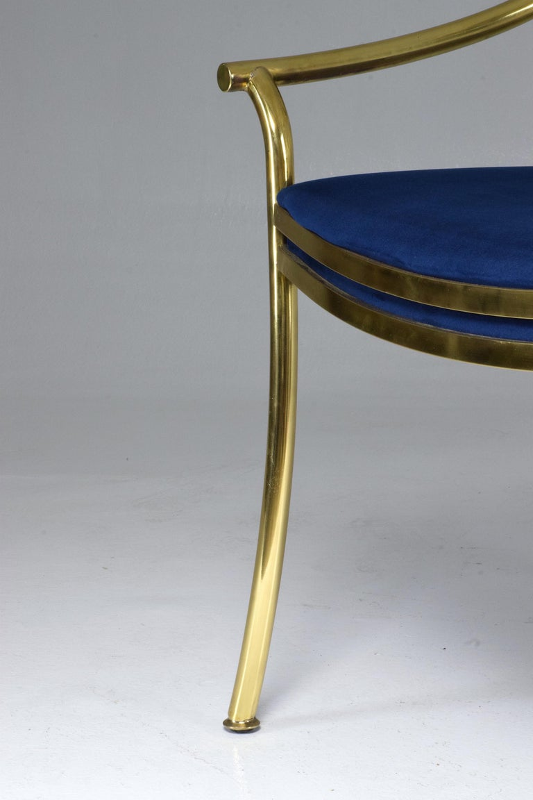 20th Century French Vintage Brass Armchair, 1970-1980 For Sale 4