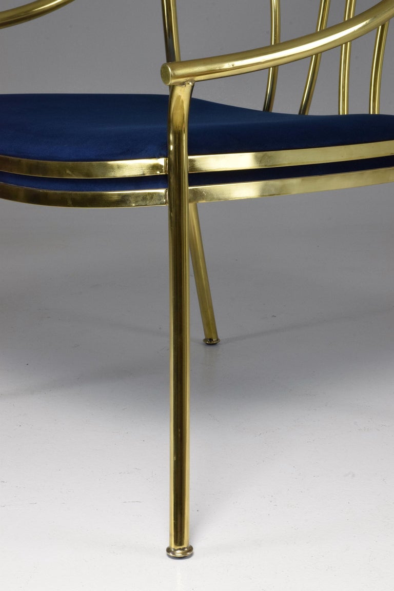 20th Century French Vintage Brass Armchair, 1970-1980 For Sale 5