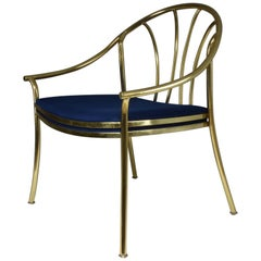 French 20th Century Brass Armchair, 1970-1980
