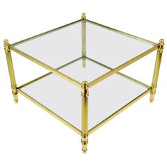 20th Century French Brass Coffee Table, 1970s