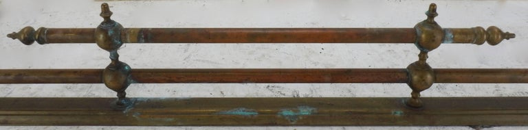 Louis XVI 20th Century French Brass Fireplace Fender For Sale
