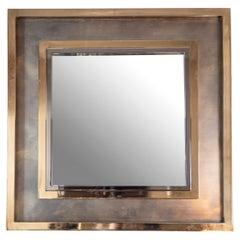 20th Century French Brass Maison Jansen Mirror
