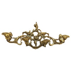 20th Century French Bronze Wall-Mounted Coat Rack