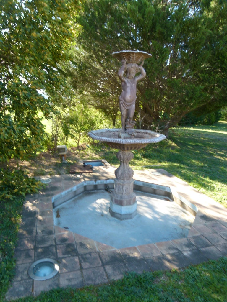 This fountain is a reproduction of an 18th century typical