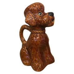 20th Century French Ceramic Poodle Pitcher, 1950s
