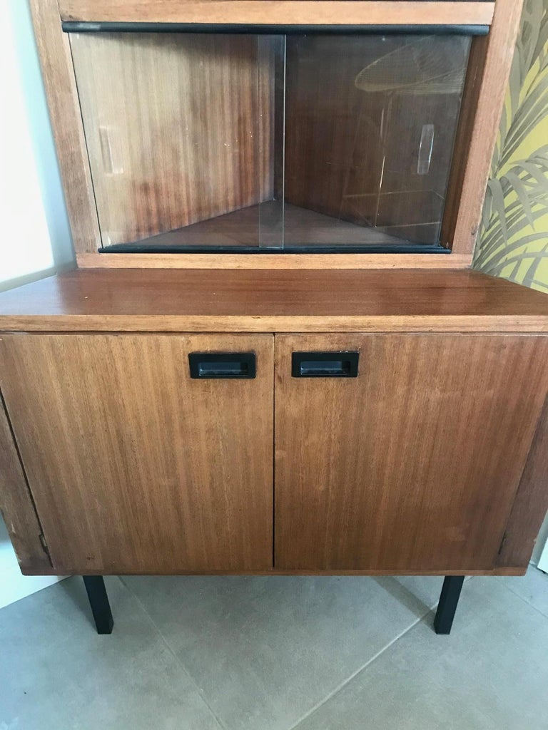 20th Century French Corner Cabinet, 1960s For Sale at 1stdibs