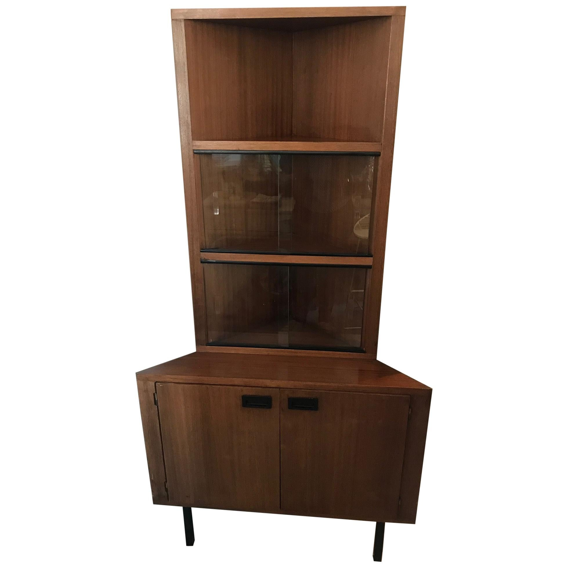20th Century French Corner Cabinet, 1960s