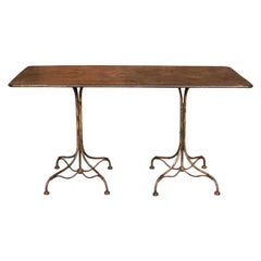 20th Century French Country House Dining Metal Table, circa 1920