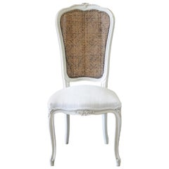 20th Century French Country Style Cane Back Accent Chair