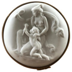 20th Century French Fine Porcelain White Chocolate Box by Limoge
