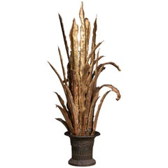 20th Century French Floor Lamp in the Shape of a Sansevieria