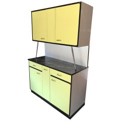 20th Century French Formica Yellow Kitchen Buffet, 1970s