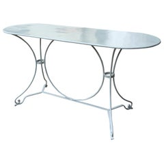 20th Century French Garden Table, Custom Finish