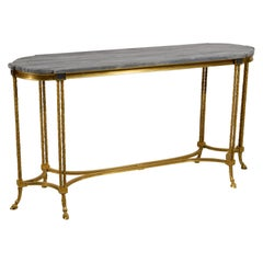 20th century, French Gilt Bronze Console Table by Maison Baguès