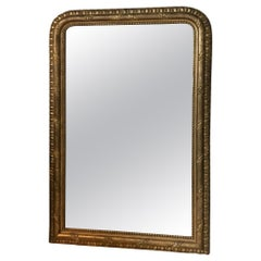 20th Century French Golden Wood and Stucco Mirror, 1900s