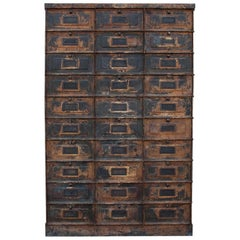 20th Century French Grand Strafor Metal Cabinet Case - Room Décor