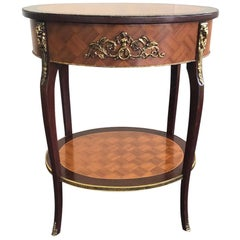 20th Century French Inlay Side Table