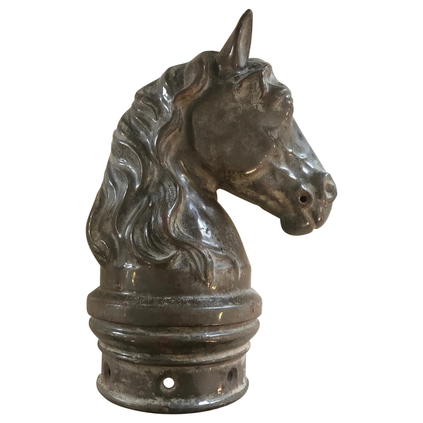 20th Century French Iron Head's Horse Ornament