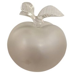 20th Century French Lalique Glass Apple for Nina Ricci Perfume Bottle, 1952
